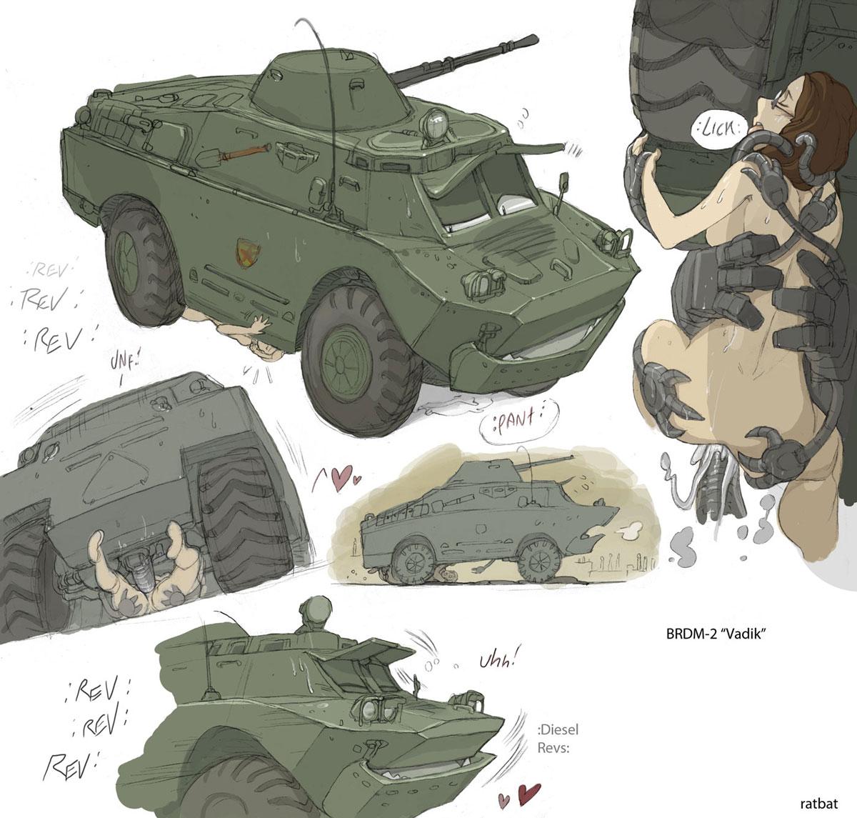Бывший танкист отымел девушку на броне танка